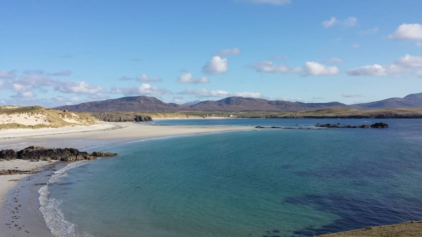 Balnakeil beach a 20 minute drive north.