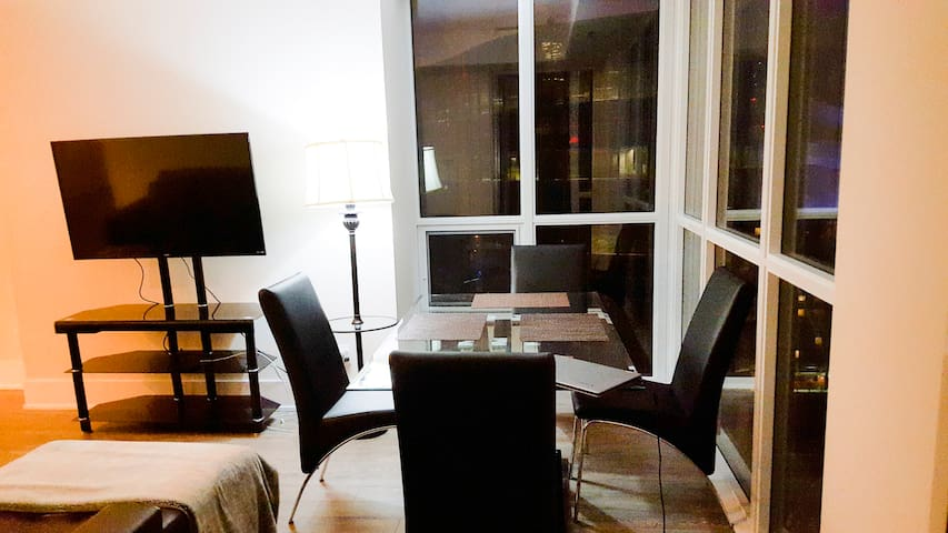 Dining Section Overlooking City & Lake View