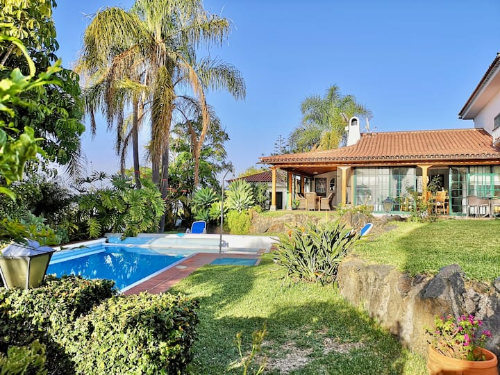Ideal chalet with pool, garden and sea+Teide views