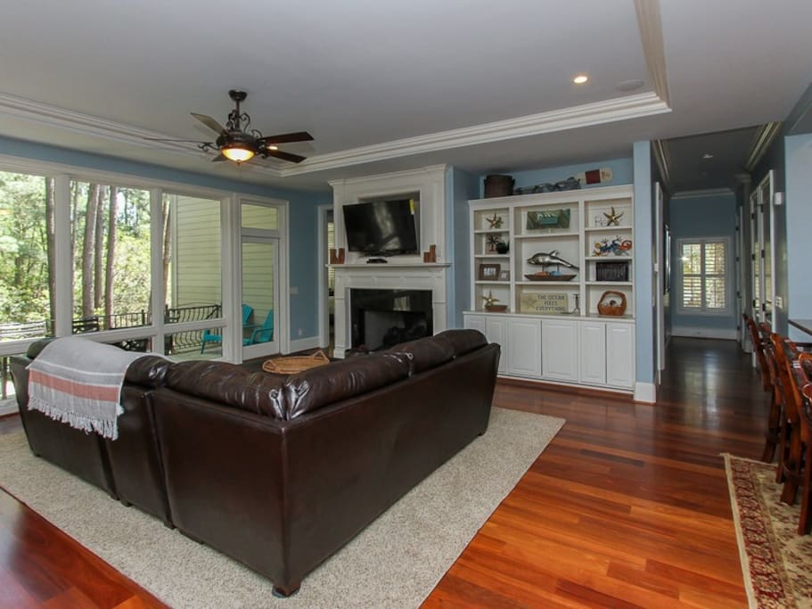 Living Room with Back Deck Access at 46 Shell Ring