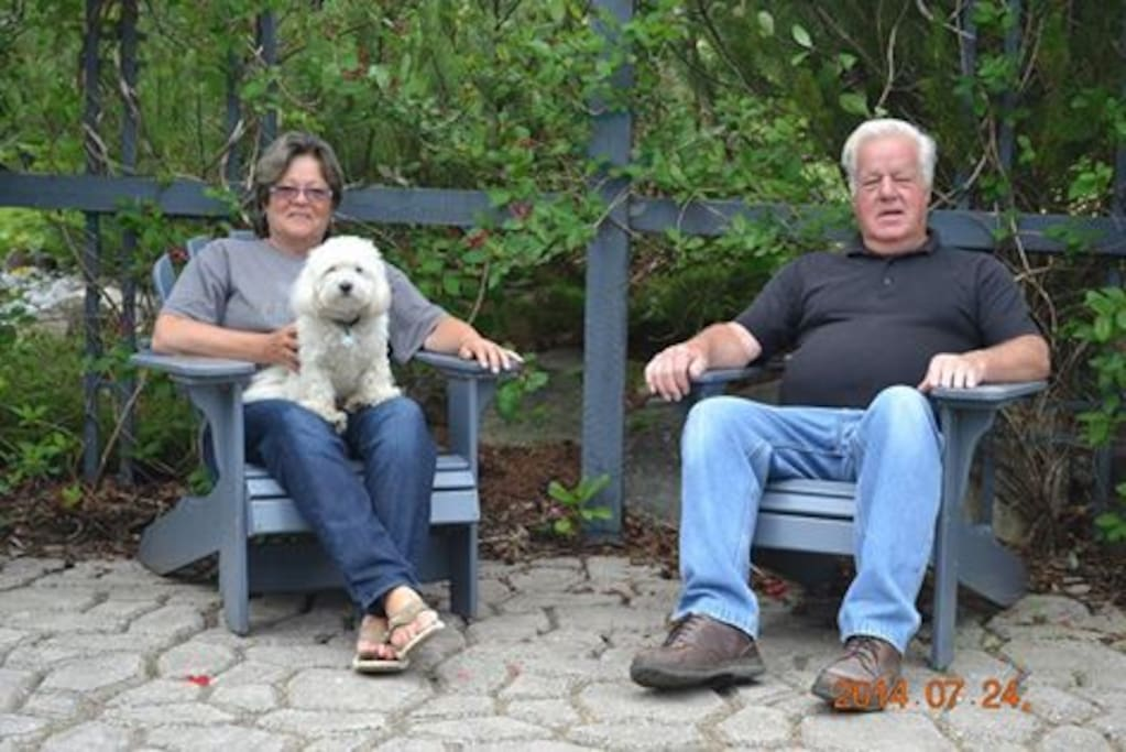 Owners, Bruce and Donna (father and daughter) with little Maya