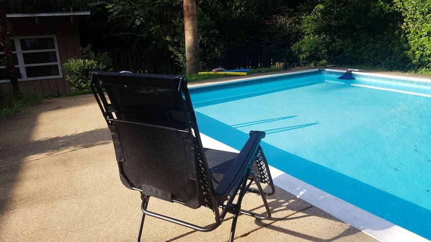 Relax by the pool, lots of seating available!