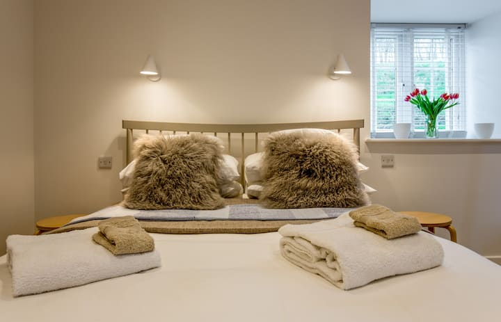 Spacious, contemporary guest suite for up to 5