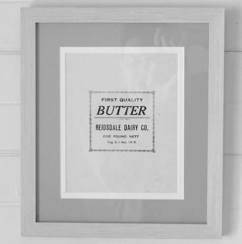 Original Butter Wrapping from old Buttery onsite.
