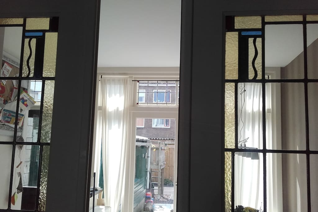 Our original doors to create some privacy between the dinner room and the living room