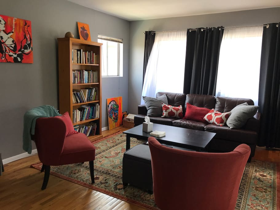 Comfy, breezy, shared space - living room