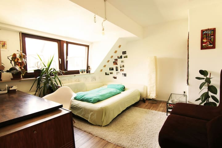 Cozy room in beautiful attic flat, central - Trier - Wohnung