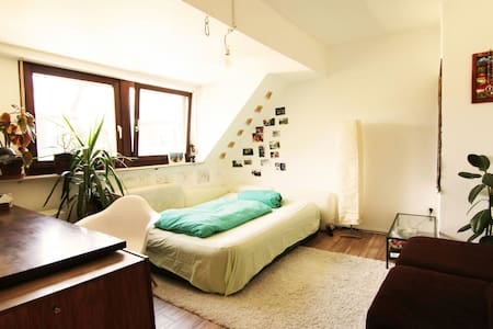 Cozy room in beautiful attic flat, central - Trier - 公寓