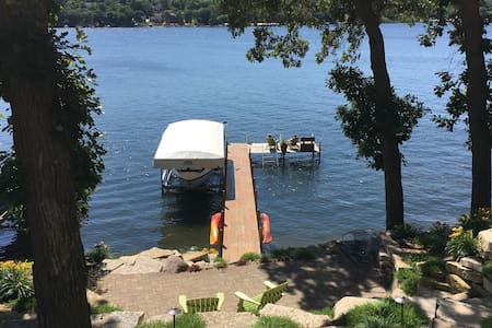 East Lake Okoboji Guesthouse on lakefront property