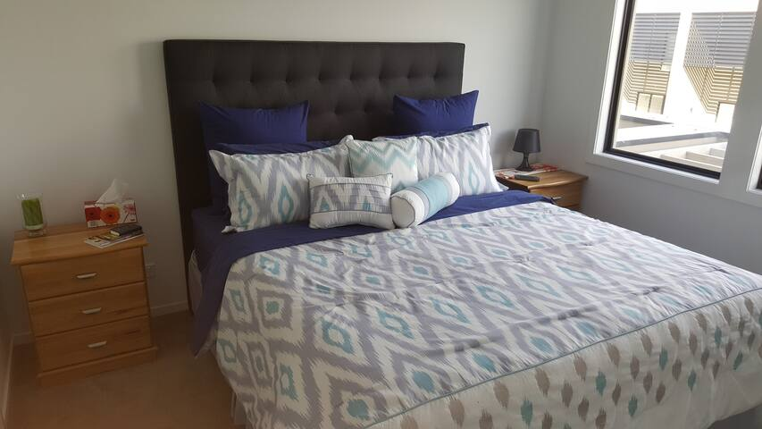 Master Bedroom with King Bed in Modern Townhouse