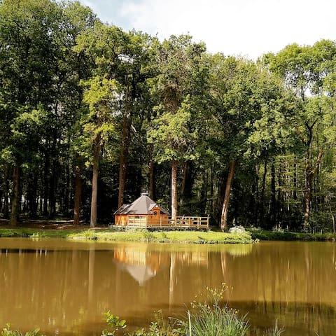 Insolite cabane en bois PDJ inclus. 2/4personnes