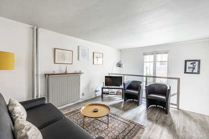 Calm and Cosy triplex on the Invalides