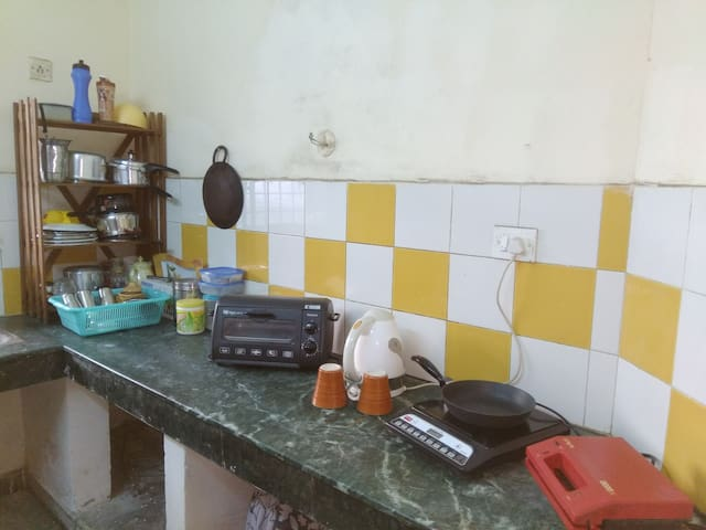 Kitchen with provided utilities