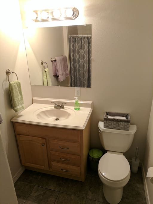 Bathroom with a stand-up shower