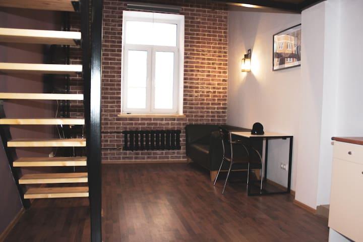 Двухуровневые апартаменты лофт (2-сп кровать,27м2)