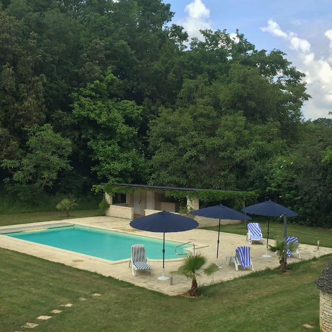 The pool and pool bar (pool available May-Sept)