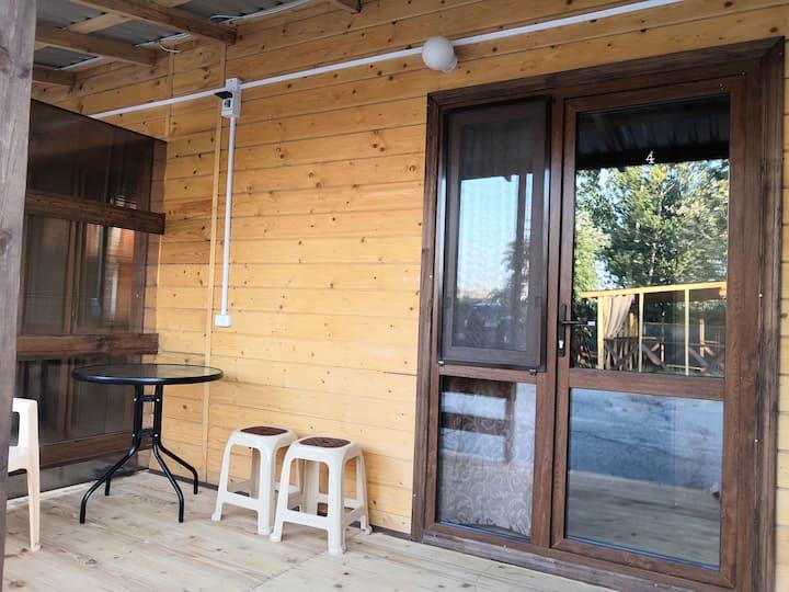Новый деревянный домик со всеми удобствами!Море10м