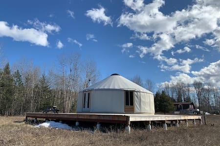 Rustic Yurt on Libby Creek Farm in NW Montana