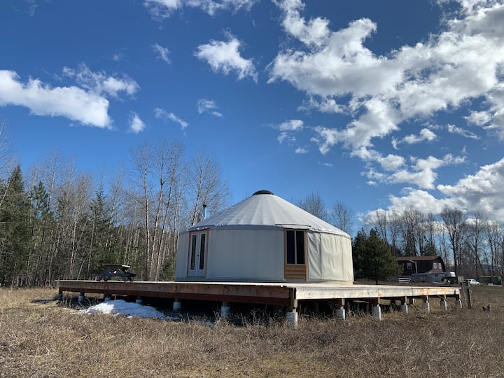 Rustic Yurt on Libby Creek Farm in NW Montana