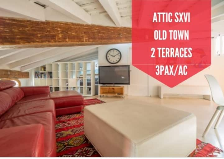 ATTIC WITH 2 TERRACES - CENTRAL MARKET VIEW