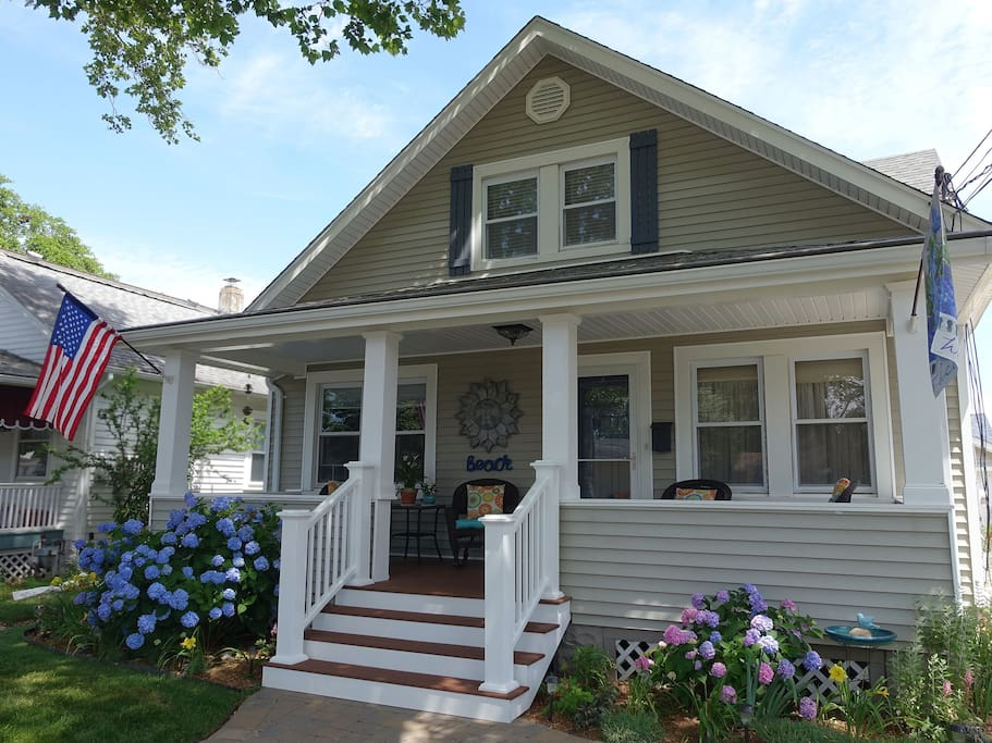 Our rental is located in a quiet family neighborhood, within walking distance of the beach, the boardwalk, and Main Street in Belmar.