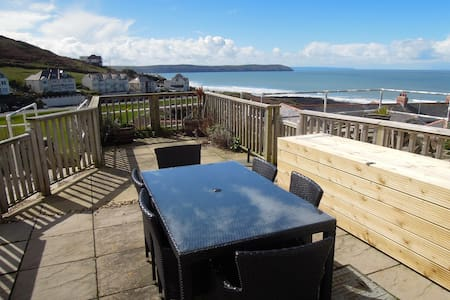 Modern Woolacombe house with stunning sea views - Mortehoe Woolacombe - 獨棟