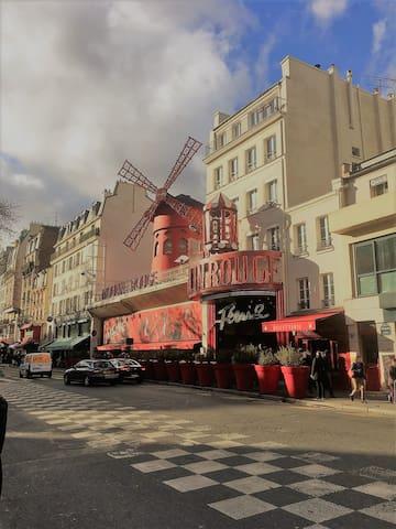 Cosy Studio in Montmartre near Moulin Rouge
