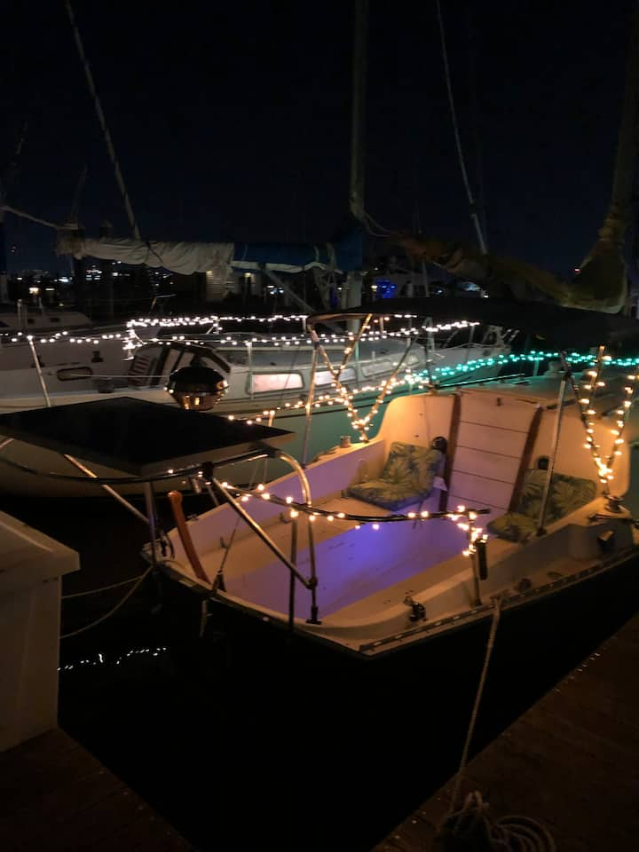 Adorable and COZY Vintage Sailboat