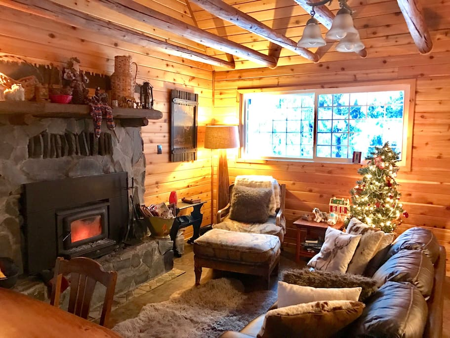 Enjoy magical mornings next to this cozy fireplace