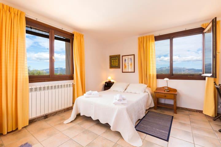 Habitación 1 cama doble en preciosa finca rústica - Santa Eugènia - Dom
