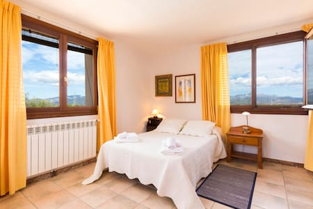 Habitación 1 cama doble en preciosa finca rústica - Santa Eugènia