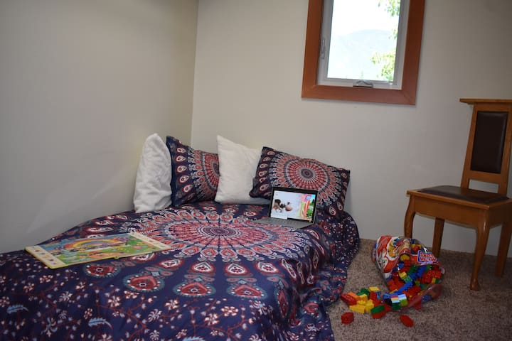 """Master closet conversion to child's room twin. Kids love their """"secret place""""! Parents enjoy privacy."""