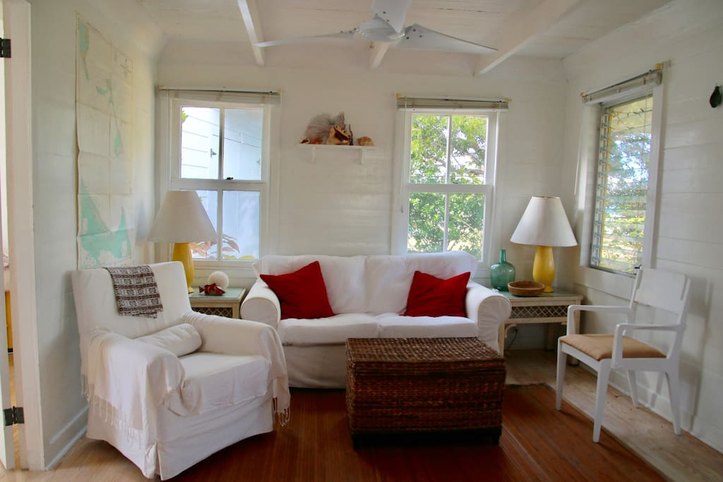 The cottage has an easy, beachy vibe.