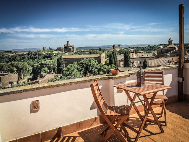 House with stunning view near Rome and Tuscany - Tuscania - Casa