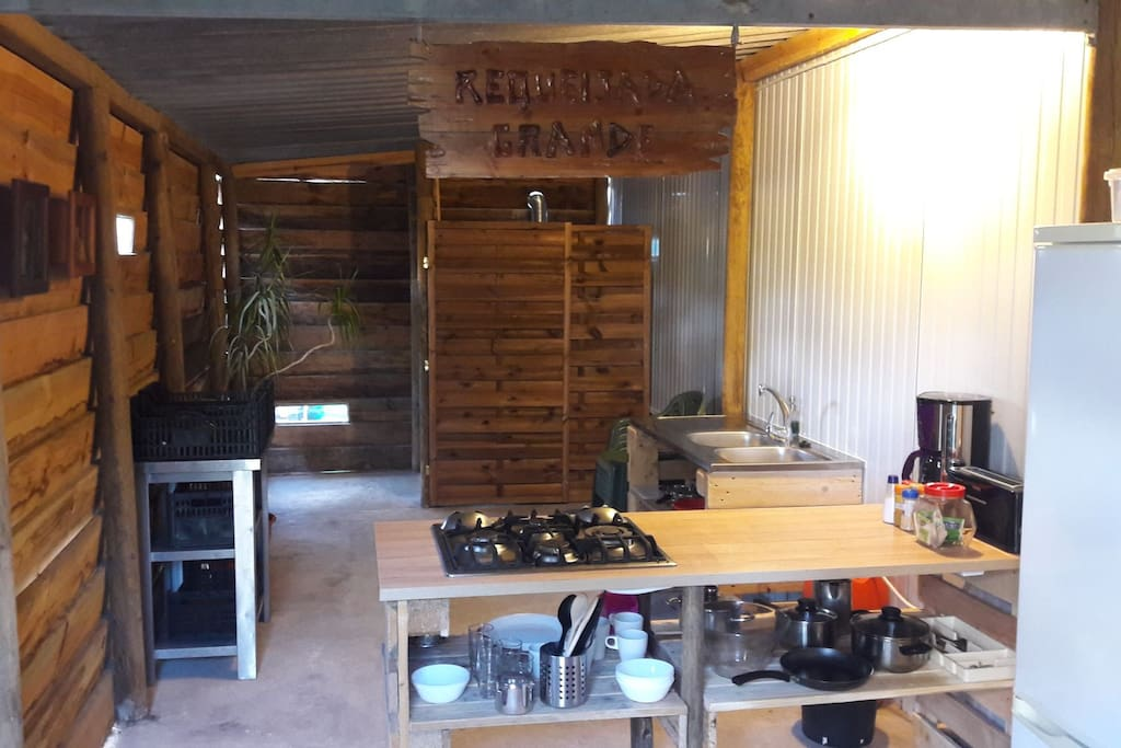 Kitchenette in shed