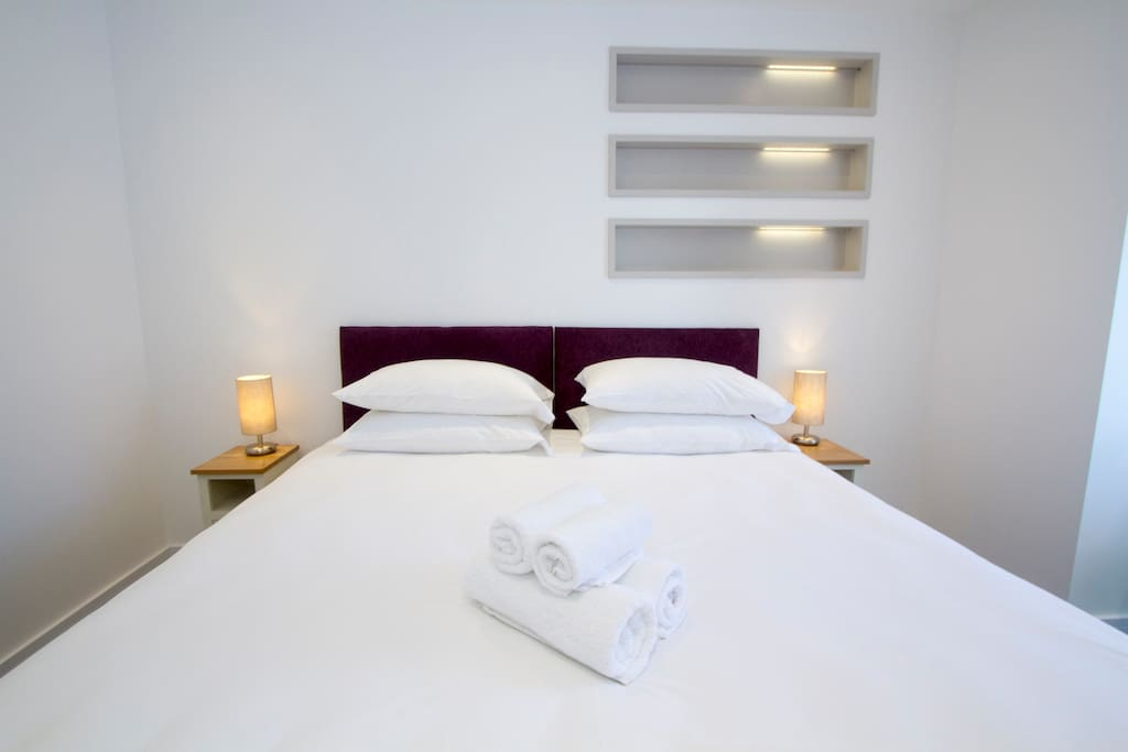 Each unique bedroom enjoys it's own bespoke design. We supply super cosy Egyptian cotton with silk content and hypoallergenic spundown bedding.