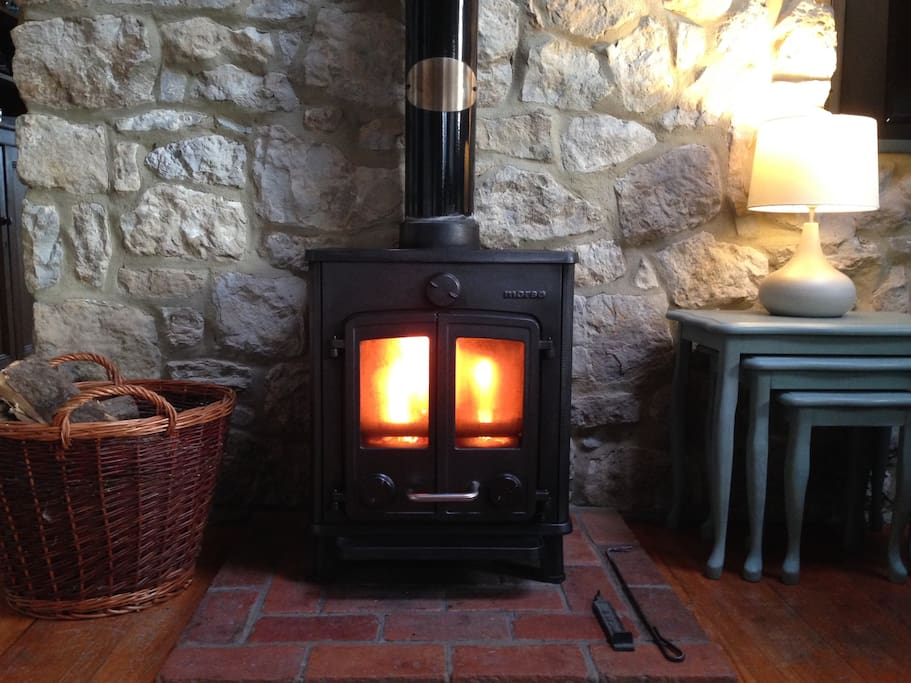 Efficient wood burning stove