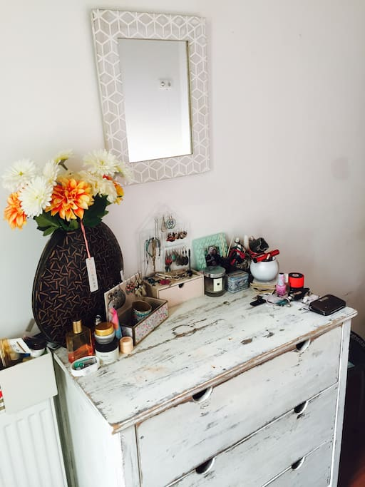 Vintage dresser for your essentials