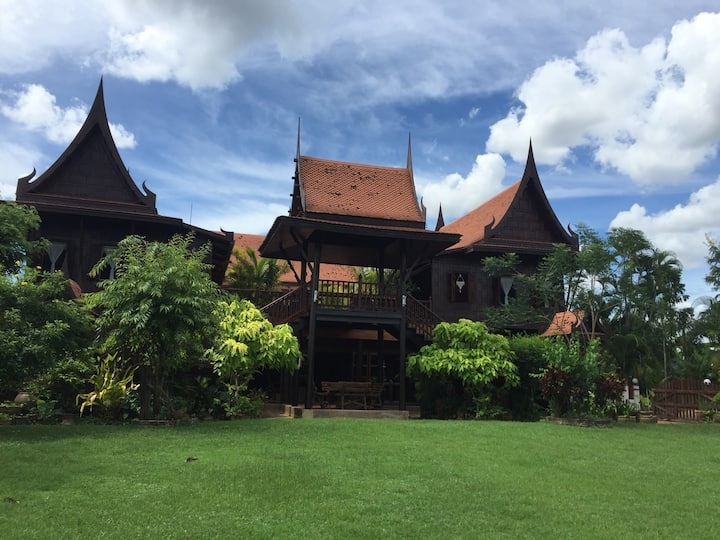 Private room in teak house near Bangkok