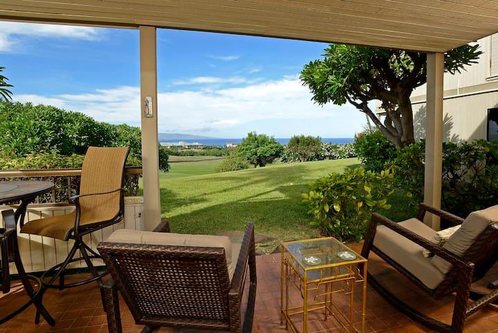 Front Row Wailea Ekolu 1 Bed - Golf & Ocean Views! - Wailea-Makena - Byt