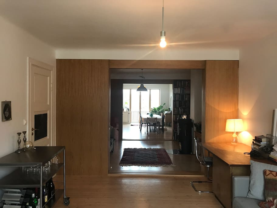 The Apartment is 96 square meters, with two separate bedrooms and two livingrooms.