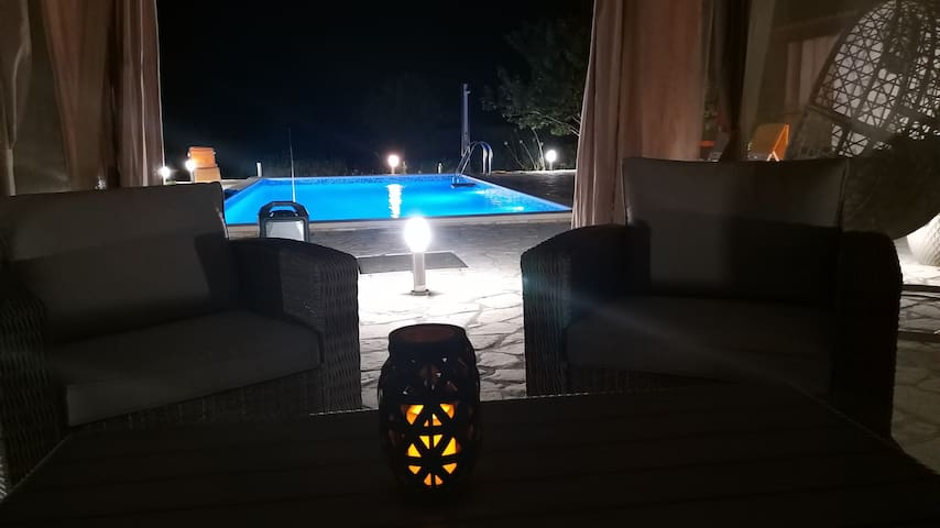 House vacation with pool,near Sibenik