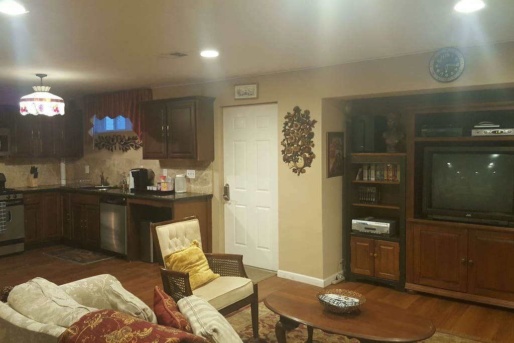Enter into the kitchen/living room area