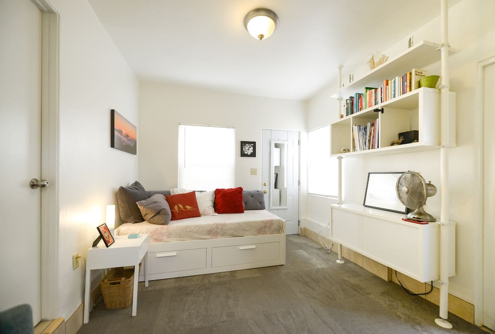 Bedroom set up for lounging (Daybed)