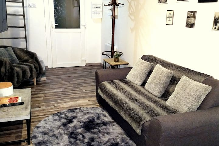 3 rooms in the center  of Carcassonne