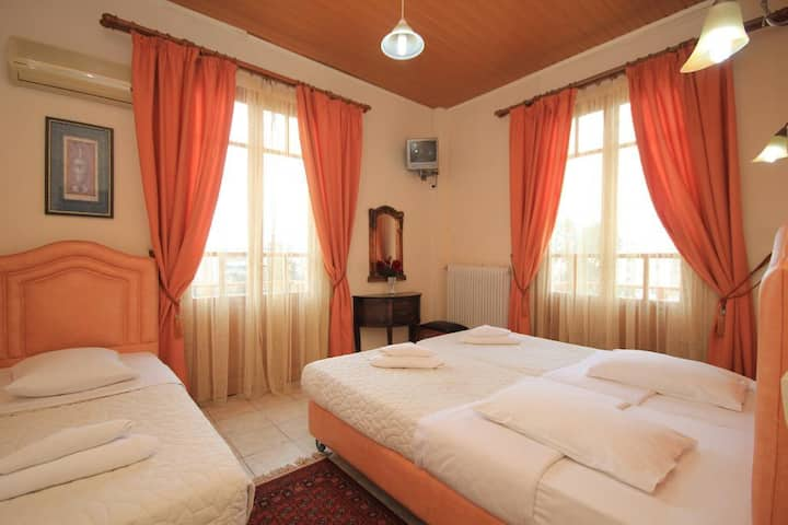 Traditional accommodation with city view