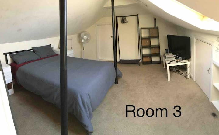 Attic Queen room upstairs