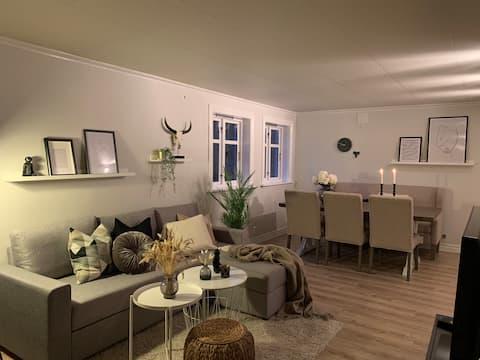 Lys og trivelig leilighet sentralt i Bekkjarvik