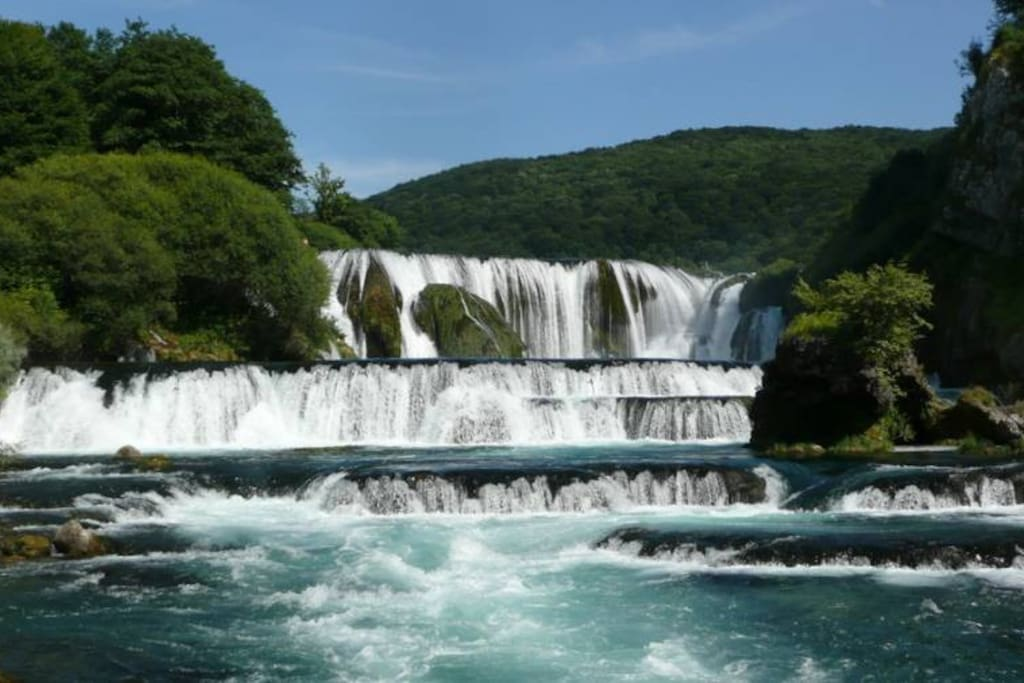 Štrbački buk waterfalls approx 30 km from the house