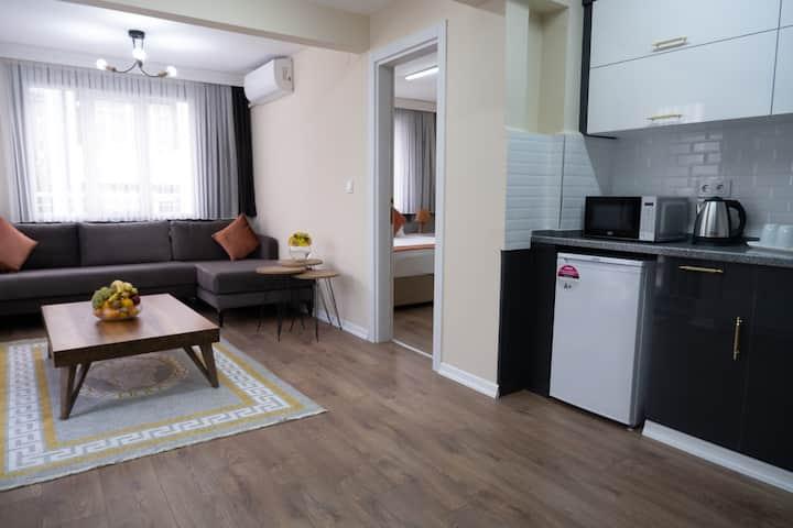 BURSA CITY CENTER 1+1 BEDROOM-TURKISH BATH-TERRACE